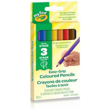 Crayola My First Jumbo Easy-Grip Coloured Pencils