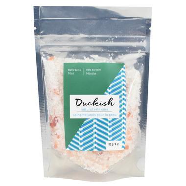 Duckish Natural Skin Care Mint Bath Salts