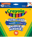 Crayola Ultra-Clean Washable Broad Line Markers Bold Colours