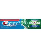 Crest Complete Whitening Plus Scope Outlast Toothpaste Mint Flavor