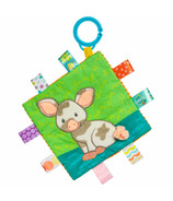 Mary Meyer Taggies Crinkle Me Patches Pig