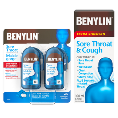 Benylin Sore Throat & Cough Relief Bundle