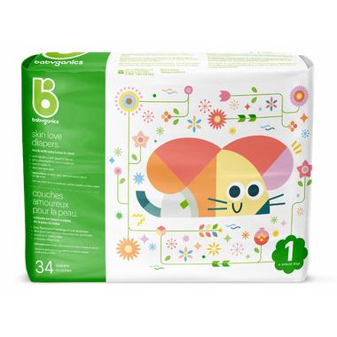 babyganics Skin Love Ultra Absorbent Diapers Size 1