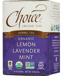 Choice Organic Teas Lemon Lavender Mint Tea