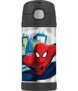 Thermos Stainless Steel Vacuum Insulated Straw Bottle SpiderMan