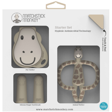 Matchstick Monkey Teething Starter Set Gigi Giraffe