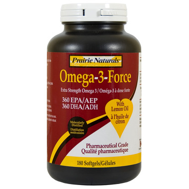 Prairie Naturals Omega-3-Force with Lemon Oil