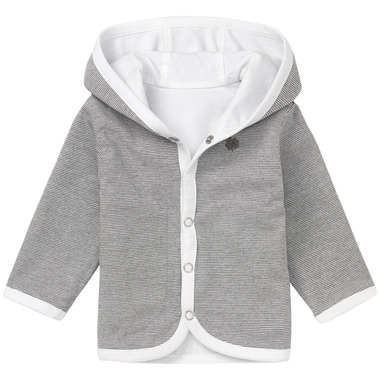 Noppies Organic Cotton Reversible Cardigan Hay White
