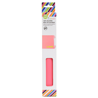 Chewbeads Silicone Roll-Up Placemat Pink