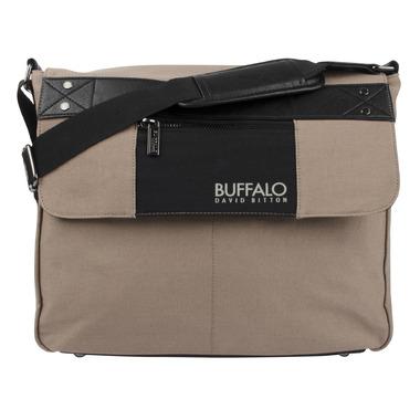 Buffalo David Bitton Frank Messenger in Tan & Black