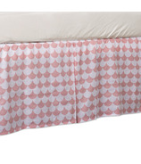 Lolli Living Bed Skirt Kayden Pink Scallop