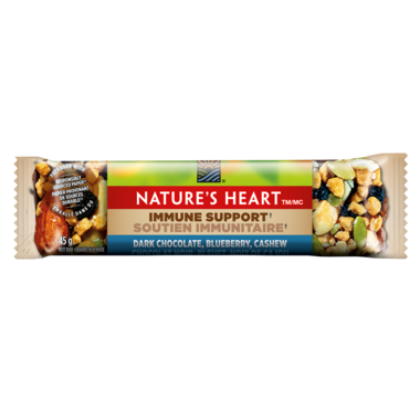 NATURE\'S HEART Dark Chocolate, Blueberry & Cashew Nut Bar