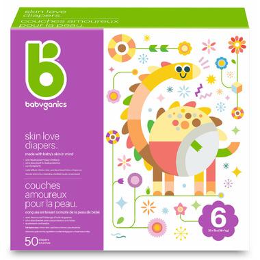 babyganics Skin Love Ultra Absorbent Diapers Size 6