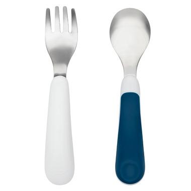 OXO Tot Fork & Spoon Set Navy