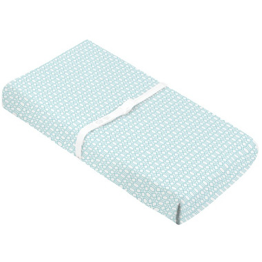 Kushies Flannel Change Pad Fitted Sheet Octagon Turquoise