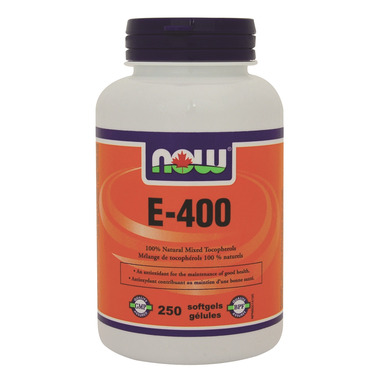 NOW Foods Vitamin E-400 IU 100% Natural Mixed Tocopherols