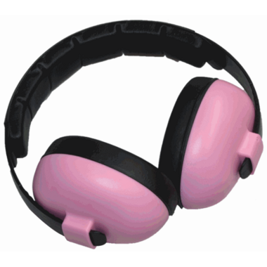 Banz Bluetooth Earmuffs Baby Mini Pink