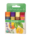 Badger Balm Classic Lip Balm 4 Pack