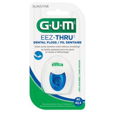 GUM Eez-Thru Dental Floss Unflavored