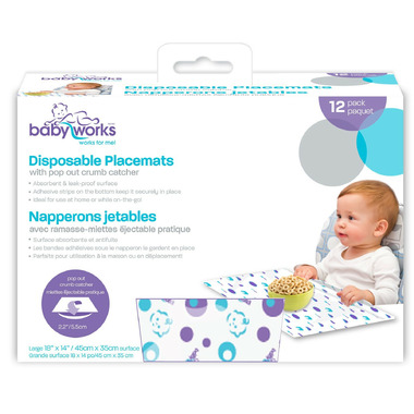 Baby Works Disposable Placemats with Crumb Catcher