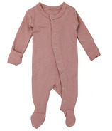 L'oved Baby Organic Footed Overall Mauve