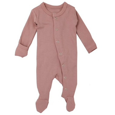 L\'oved Baby Organic Footed Overall Mauve