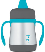 Foogo Stainless Steel Vacuum Insulated Sippy Cup Teal & Smoke