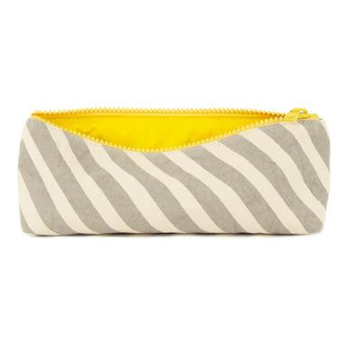 Fluf Pencil Case Gray Stripe
