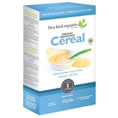 First Food Organics Brown Rice Cereal
