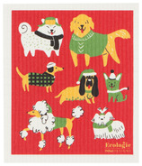Now Designs Ecologie Swedish Sponge Cloth Yule Dogs