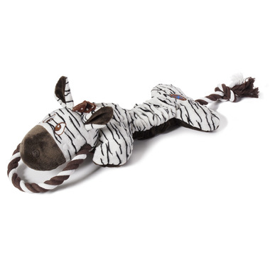 Charming Pet Products Scrunch Bunch Zebra Dog Toy