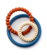 Little Cheeks 3-in-1 Trio Rings Silicone Textured Teethers Briggs