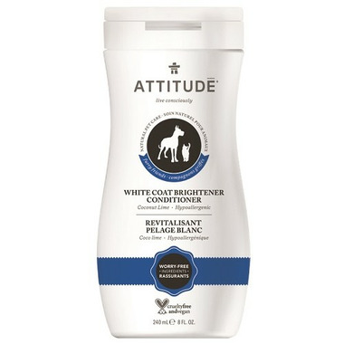 ATTITUDE Furry Friends White Coat Brightener Pet Conditioner Coco Lime