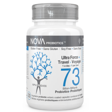 NOVA Probiotics Ultra Strength & Travel 73 Billion CFU