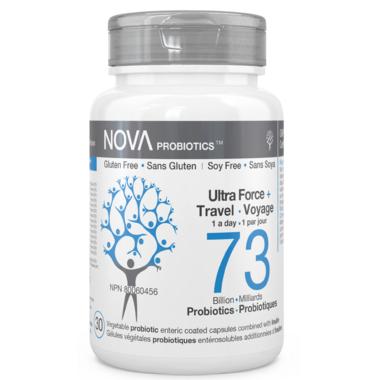 NOVA Probiotics Ultra Strength & Travel 73 Billion CFU