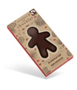 Galerie au Chocolat Fairtrade Dark Chocolate Gingerbread Man
