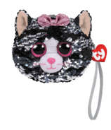 Ty Fashion Kiki The Cat Sequin Wristlet