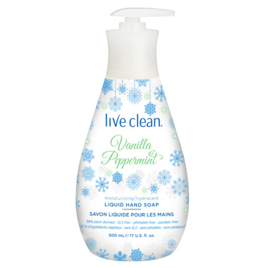 Live Clean Moisturizing Liquid Hand Soap Vanilla Peppermint