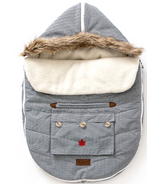 Juddlies Car Seat & Stroller Bag Herringbone Grey