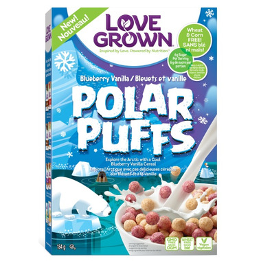 Love Grown Foods Polar Puffs Cereal