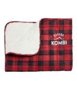 Kombi couverture little napper à carreaux de buffle rouge