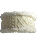 Pudus Headband Cable Knit White Adult
