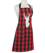 Now Designs Apron Spruce Buffalo Check Deer
