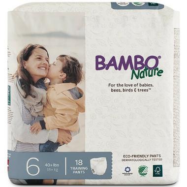 Bambo Nature Eco-Friendly Training Pants Size 6