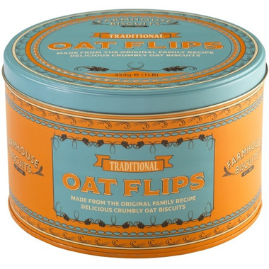 Farmhouse Biscuits Retro Oat Flip Tin