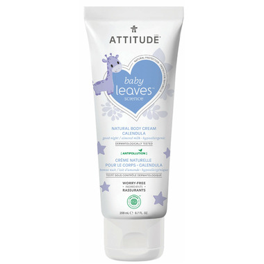 ATTITUDE Baby Leaves Calendula Night Cream Almond Milk
