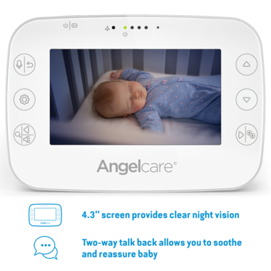 "Angelcare Breathing Monitor with 4.3"" Video AC327"