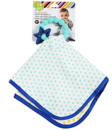 Chewbeads Lovey Blanket and Teether Turqouise Star