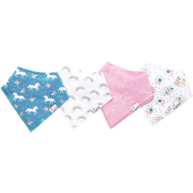 Copper Pearl Whimsy Bandana Bibs
