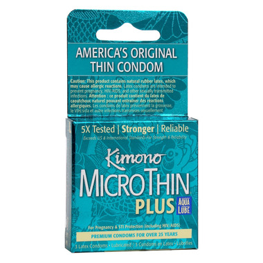 Kimono MicroThin Plus Aqua Lube Condoms